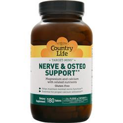 Country Life Target-Mins - Nerve & Osteo Support 180 tabs