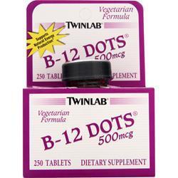TwinLab B-12 Dots (500mcg) 250 dots