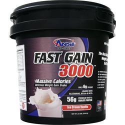 ANSI Fast Gain 3000 Ice Cream Vanilla 12 lbs