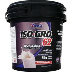 ANSI Iso-Gro 62 Ice Cream Vanilla 10 lbs
