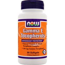 NOW Gamma E Tocopherols 90 sgels