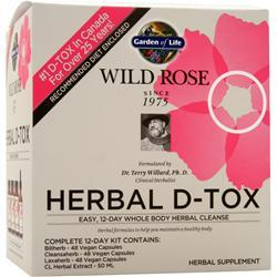 Garden Of Life Wild Rose Herbal D-Tox  BEST BY 3/18 12 days