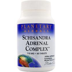 PLANETARY FORMULAS Schisandra Adrenal Complex (710mg) 60 tabs