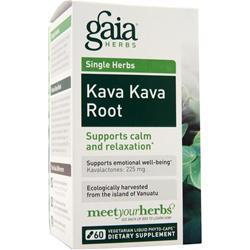 Gaia Herbs Single Herbs - Kava Kava Root 60 vcaps
