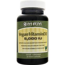 MRM Vegan Vitamin D3 (5,000IU) 60 vcaps
