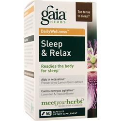 Gaia Herbs Daily Wellness - Sleep & Relax 50 caps