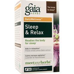 Gaia Herbs Daily Wellness - Sleep & Relax 50 caps