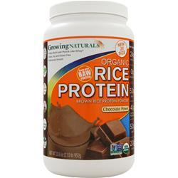 GROWING NATURALS Rice Protein Isolate - Organic Chocolate Power 952 grams