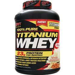 SAN 100% Pure Titanium Whey Vanilla Butterscotch 4.94 lbs