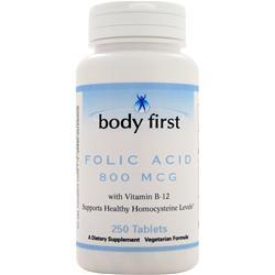 BODY FIRST Folic Acid (800 mcg) 250 tabs