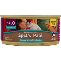 HALO Spot's Pate For Cats Ground Whitefish 5.5 oz