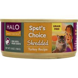 HALO Spot's Choice For Cats - Shredded Turkey 5.5 oz