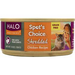 Halo Spot's Choice For Cats - Shredded Chicken 5.5 oz
