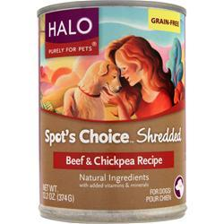 HALO Spot's Choice For Dogs - Shredded Beef & Chickpea 13.2 oz
