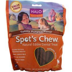 Halo Spot's Chew - Natural Edible Dental Treat Yummy Pumpkin 20 chews