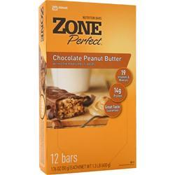 ZONE PERFECT Nutrition Bar Chocolate Peanut Butter 12 bars