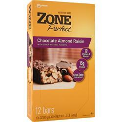 ZONE PERFECT Nutrition Bar Chocolate Almond Raisin 12 bars