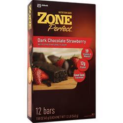 ZONE PERFECT Dark Chocolate Nutrition Bar Dark Chocolate Strawberry 12 bars