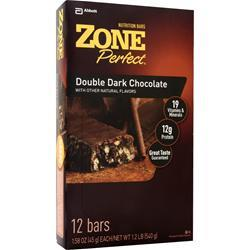 ZONE PERFECT Dark Chocolate Nutrition Bar Double Dark Chocolate 12 bars