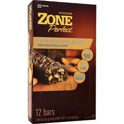 ZONE PERFECT Dark Chocolate Nutrition Bar Dark Chocolate Almond 12 bars