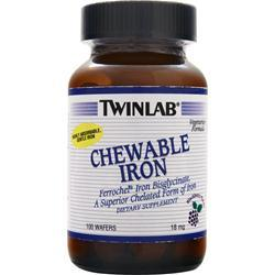 TWINLAB Chewable Iron Blackberry 100 wafrs
