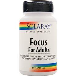 SOLARAY Focus For Adults 60 caps