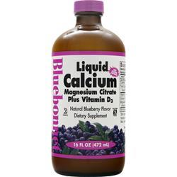BLUEBONNET Liquid Calcium Magnesium Citrate Plus Vitamin D3 Blueberry 16 fl.oz