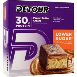 FORWARD FOODS Detour Bar - Low Sugar Peanut Butter Cream 12 bars