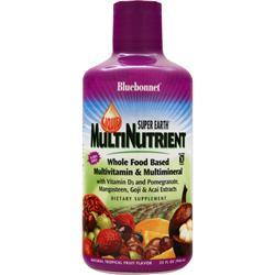 Bluebonnet Super Earth Multi Nutrient Tropical Fruit BEST BY 4/29/17 32 fl.oz