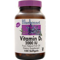 Bluebonnet Vitamin D3 (2000IU) 100 sgels