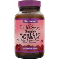 BLUEBONNET Chewable Vitamin B-6, B-12 Plus Folic Acid 60 tabs
