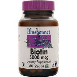 Bluebonnet Biotin (5000mcg) 60 vcaps
