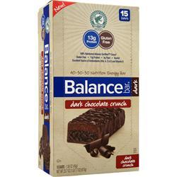BALANCE BAR Balance Bar Dark Dark Chocolate Crunch 15 bars
