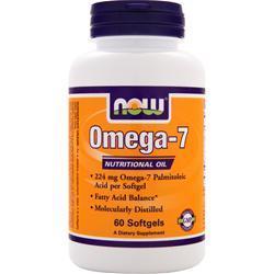 Now Omega-7 60 sgels