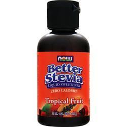 Now Better Stevia Liquid Sweetener Tropical Fruit 2 fl.oz