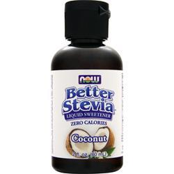 NOW Better Stevia Liquid Sweetener Coconut 2 fl.oz