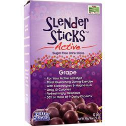 NOW Slender Sticks Active Grape 12 pckts