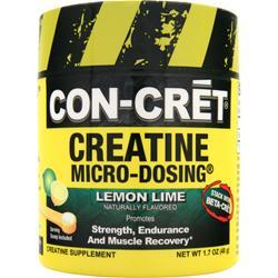 Con-Cret Creatine Micro-Dosing Powder Lemon Lime 48 grams