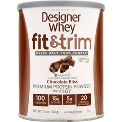 DESIGNER WHEY Fit & Trim Chocolate Bliss 10 oz