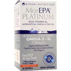 Minami Nutrition MorEPA - Platinum Plus Vitamin D3 Orange Original 60 sgels