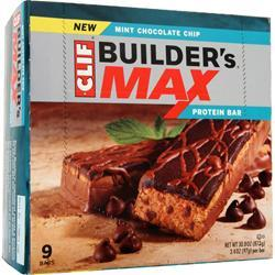 CLIF BAR Builder's Maxx Bar Mint Chocolate Chip 9 bars