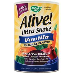 NATURE'S WAY Alive Multivitamin - Ultra Shake Pea Protein Vanilla 2.2 lbs