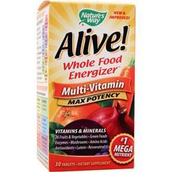 Nature's Way Alive! Multivitamin - Max Potency 30 tabs
