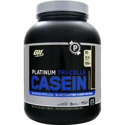 Optimum Nutrition Platinum Tri-Celle Casein Protein Chocolate Decadence 2.37 lbs