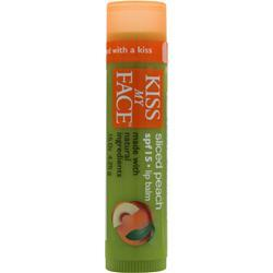 Kiss My Face Organic Lip Balm Sliced Peach .15 oz