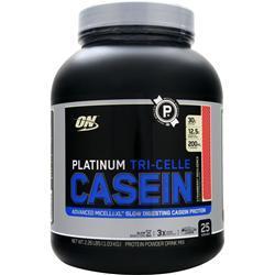 Optimum Nutrition Platinum Tri-Celle Casein Protein Strawberry Indulgence 2.26 lbs