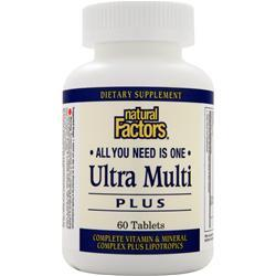 Natural Factors Ultra Multi Plus 60 tabs