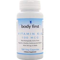 Body First Vitamin K-2 (100mcg) 100 vcaps