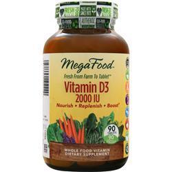 MEGAFOOD Vitamin D-3 (2000IU) 90 tabs
