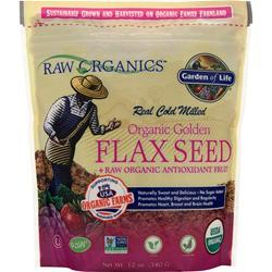 GARDEN OF LIFE Organic Golden Flax Seed + Raw Organic Antioxidant Fruit 12 oz